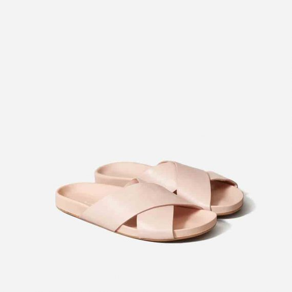 Crossover Leather Sandal